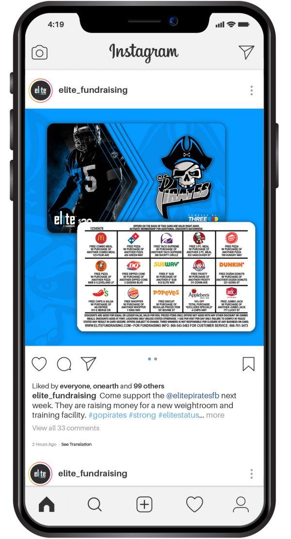 Elite Fundraising Social Media Instagram Post Image